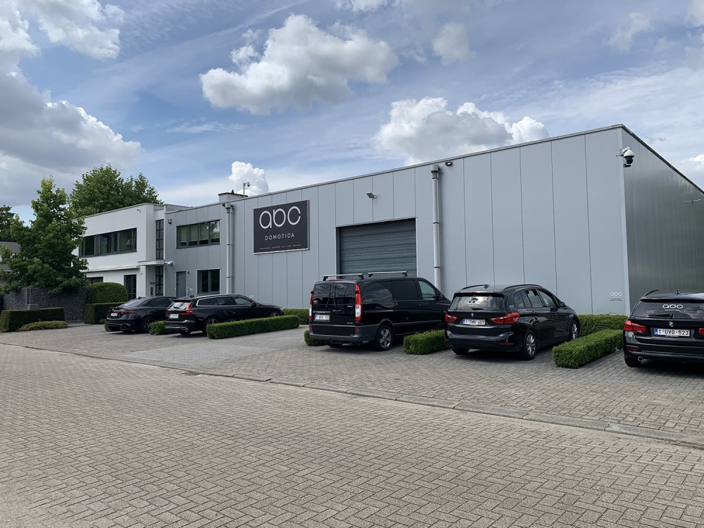 An exterior view of the ABC - Domotica offices located in Schoten (Belgium)